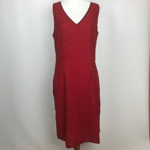 Dresses & Skirts - Vintage Red Beaded holiday Dress